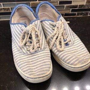Original UGG blue striped canvas sneakers